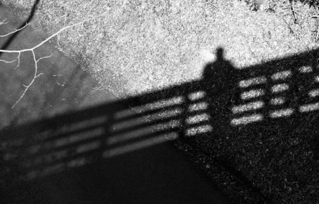 shadow of my former self A Selfie Black And White Bridge Darkness And Light Eye 4 Photography EyeEm Best Shots From My Point Of View Light Light And Shadow Lines And Shapes Looking Down From Above Monochrome Monochrome Photography Photo Of The Day Random Shadow Shadows & Lights Street Photography Streetphoto_bw Textures And Surfaces That's Me View From Above
