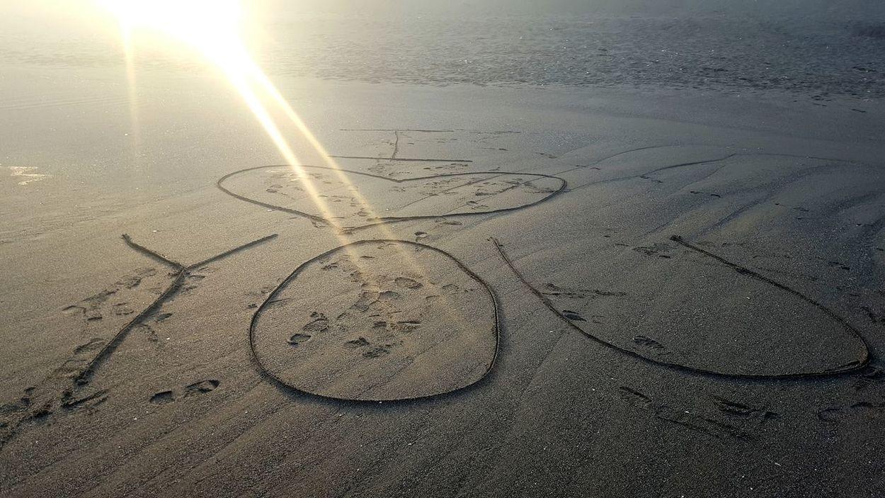 Sandy Beach Love I ❤ You Taking Photos Hello World Love Notes He Loves Me  Enjoying Life Sand Sand Notes Love Is In The Air Sunrise Humboldt County Beach Photography Beach Early Morning Early Morning Walks Love Him Beach Walk Hi! Check This Out ❤ Hello Sunshine Sunshine