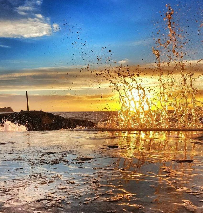 Mediterranean  Sunset Water Nature Sky No People Outdoors Beauty In Nature Tree Tranquility Day Nature Beach Gold Colored Wave The Week Of Eyeem EyeEm First Eyeem Photo Sea Sea And Sky Beauty In Nature