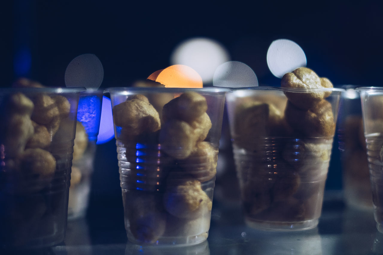Street food: Fish ball Black Background Bokeh Cholesterol Close-up Copy Space Deep Fry Delicious Diet Exotic Fat Food Food And Drink Gluten Light And Shadow Night Photography Philippines Plastic Cup Refreshment Selective Focus Street Food Street Photography Unhealthy Eating