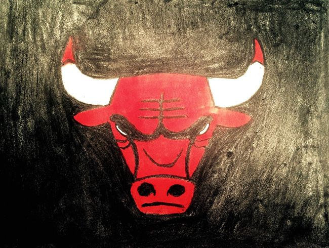 Bulls Chicago Chicago Bulls NBA Basketball Basket Sport Sports Drawing Draw Red Black Blackandred Team MyDrawing Mydraw Fusain