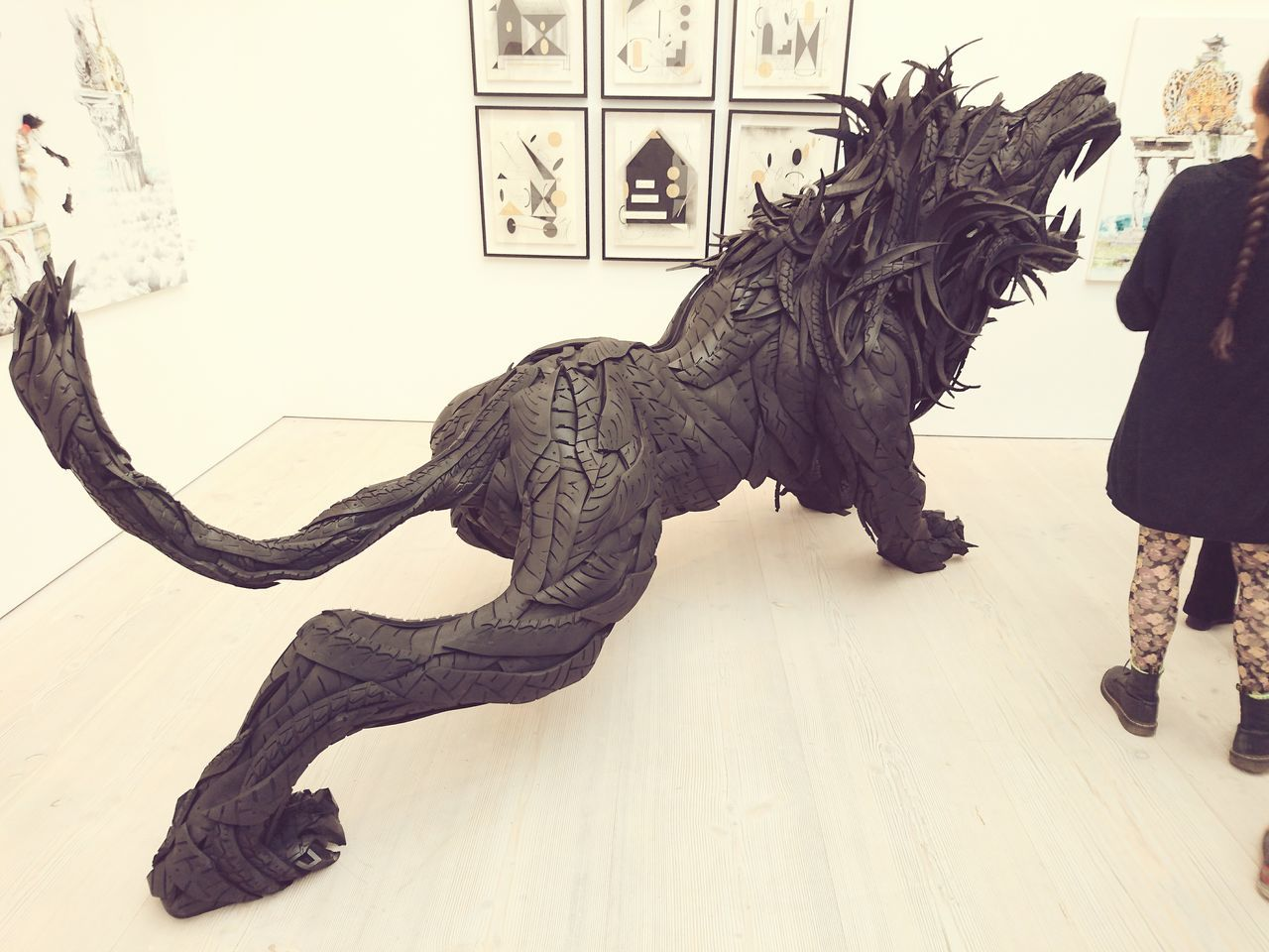 Amazing Sclupture Tyres Lion Gallery Saatchi Gallery Art Creativity Recycled Materials