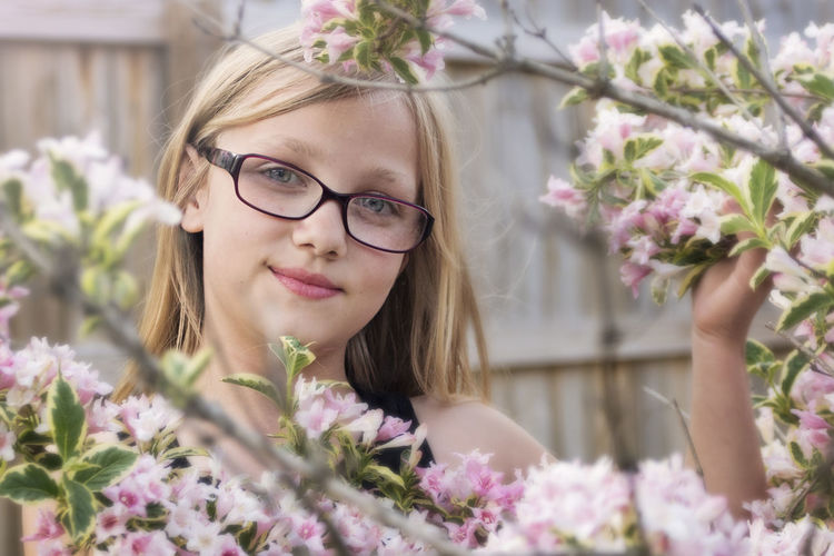 Lovely Lyssie Beautiful Daughter Flowers Smiling Young Girl