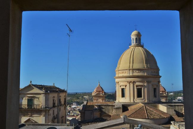 Architecture BaroccoSiciliano Blue Building Exterior Built Structure Cityscapes Clear Sky Day Dome Duomo Duomo Di Noto High Section No People Noto Outdoors Place Of Worship Religion Sicily Sky Spirituality Tetti  Travel Destinations View