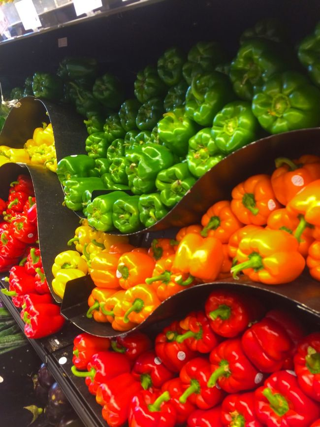 Abundance Arrangement Bell Pepper Broccoli Choice Collection Display Food Food And Drink For Sale Freshness Healthy Eating Large Group Of Objects Market Market Stall Organic Red Red Bell Pepper Retail  Retail Display TakeoverContrast Tomato Variation Vegetable Yellow Bell Pepper