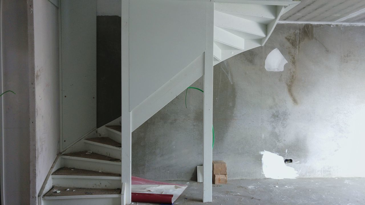 Indoors  No People Day Wall - Building Feature Built Structure White Color Stair Architecture