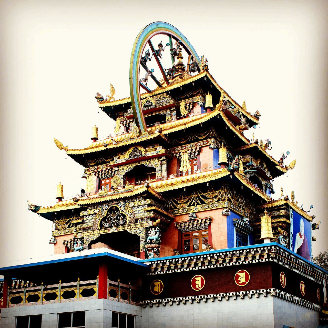 Goldentemple Coorg Travel Outdoors History Architecture Low Angle View Vibrant Color Photography Sacred Places
