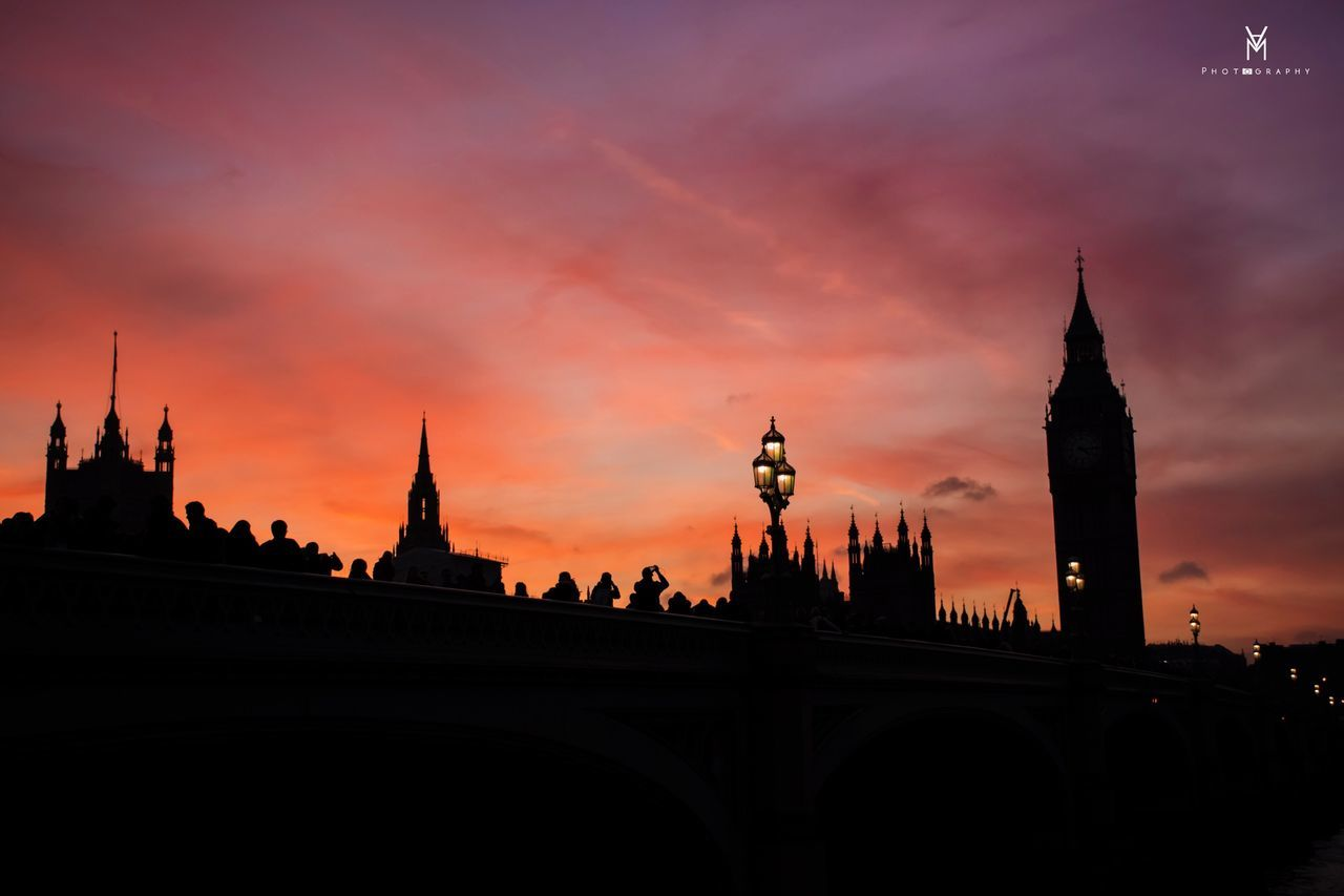 London Sunset Westminster Westminister Abbey Westminster Bridge England U.K.