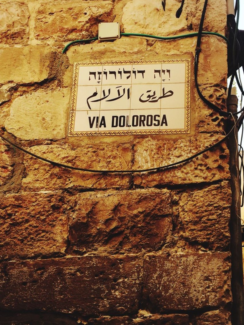 ViaDolorosa Christianquater Oldcity Jerusalem Religious  Jesus Christian Summertime Daytime Israel Palestine