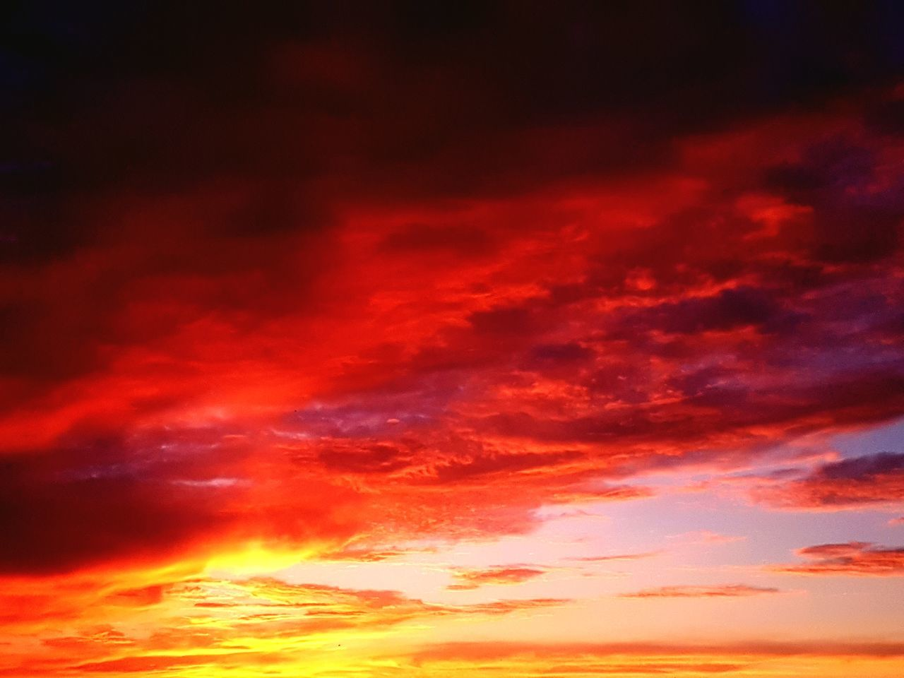 sunset, sky, beauty in nature, scenics, nature, cloud - sky, dramatic sky, orange color, tranquil scene, red, tranquility, no people, outdoors, night, abstract, sky only, backgrounds, multi colored, illuminated