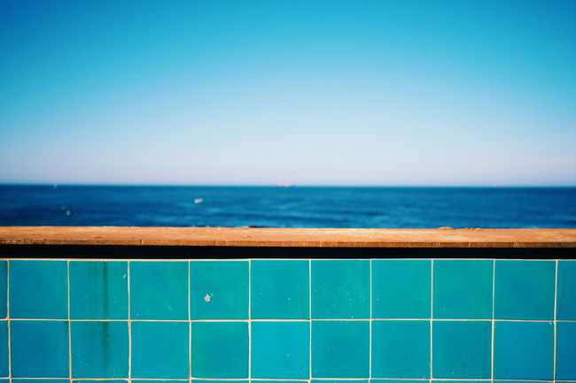 The blue blue sea... Enjoying Life Summer Blue Relaxing From My Point Of View Getting Inspired Showcase June Travel Photography Getting Creative Portugal Sea And Sky Seaside Sea Minimalism Minimalobsession Summertime Summer ☀ Blue Sea Fine Art Photography Hikinggalicia