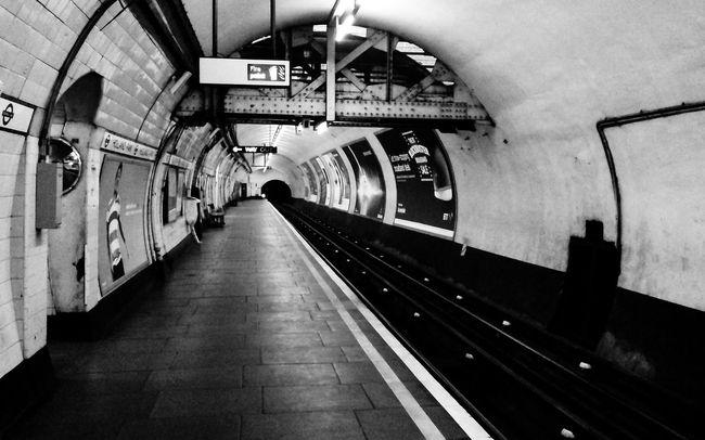 Underground London B&w Underground