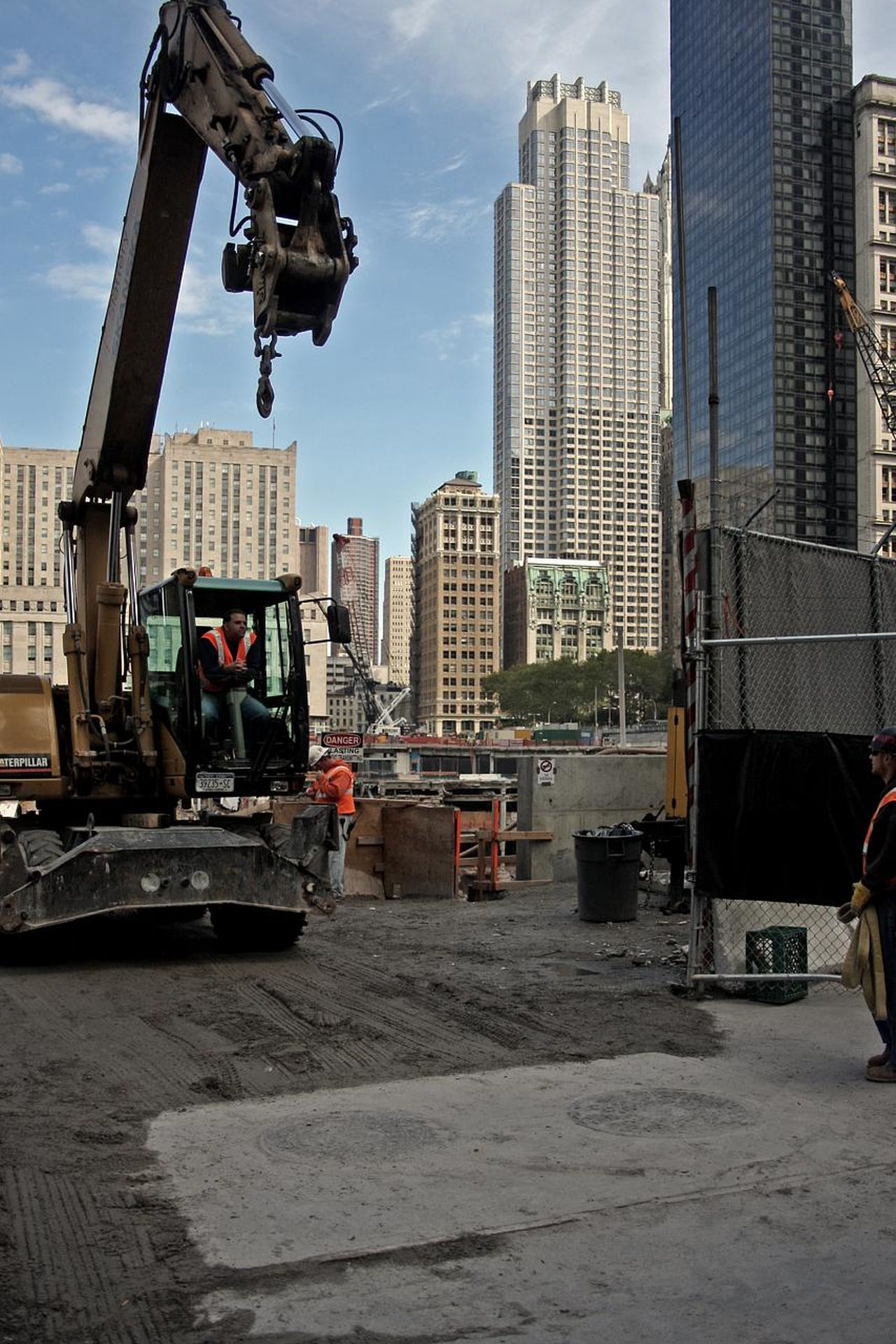 2008 City Construction Machinery Construction Site Manhattan New York Outdoors Skyscapers
