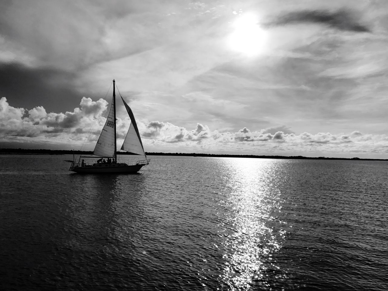Ponce Inlet New Smyrna Beach Sail Boat Ocean Cloud - Sky Sky Water Nautical Vessel Sea Waterfront Tranquility Scenics Sailboat Nature Tranquil Scene Beauty In Nature Sailing Outdoors Rippled Transportation Mast Day No People Horizon Over Water Coastal Beach