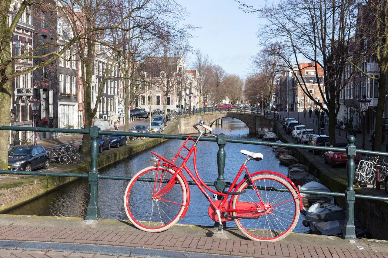 Mode Of Transport Transportation City Tree No People Outdoors Land Vehicle Day Sky City Amsterdamcity Amsterdam Amsterdam Canal Cityscape