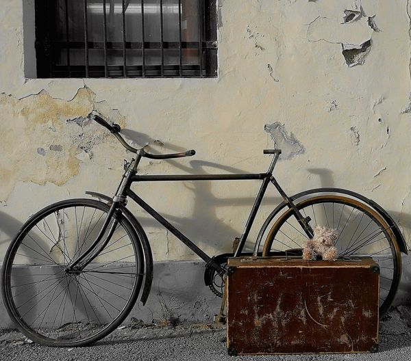 Bicycle No People Day Outdoor Wall Travel With Bike Nostalgic