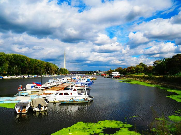 Boat River Lake Cloud Cloudscape Beauty In Nature Colorful Color Portrait Famous Place Orizon Nautical Vessel Transportation Boat Mode Of Transport Moored Water Cloud - Sky High Angle View Sky Tree Lake Cloudy Tranquility River Tranquil Scene