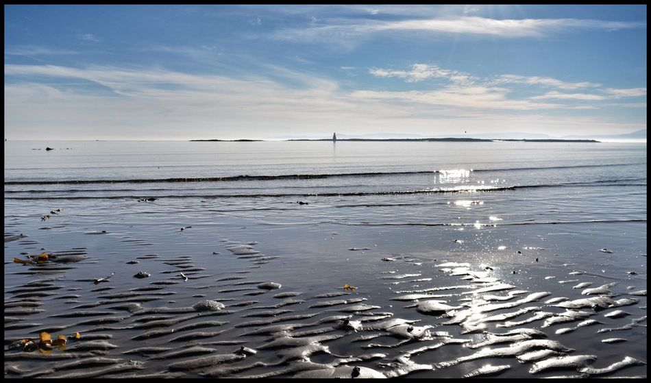 Horse Island from Ardrossan Ayrshire, Scotland Water Sea Sky Nature Outdoors Tranquil Scene Horizon Over Water No People Day Beauty In Nature Water_collection EyeEm Best Shots EyeEm Eye4photography  EyeEm Gallery EyeEmBestPics Water Reflections Beachphotography Eyeemphotography Waterfront Sand Sand Patterns