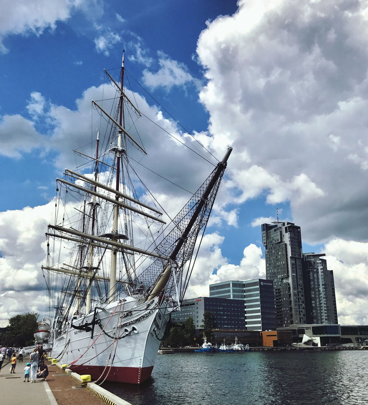 Cloud - Sky Sky Transportation Architecture Nautical Vessel Built Structure Day Mode Of Transport Building Exterior Water Outdoors Mast No People City Harbor Sea Tall Ship Sailing Ship EyeEm Selects Shotoniphone7plus