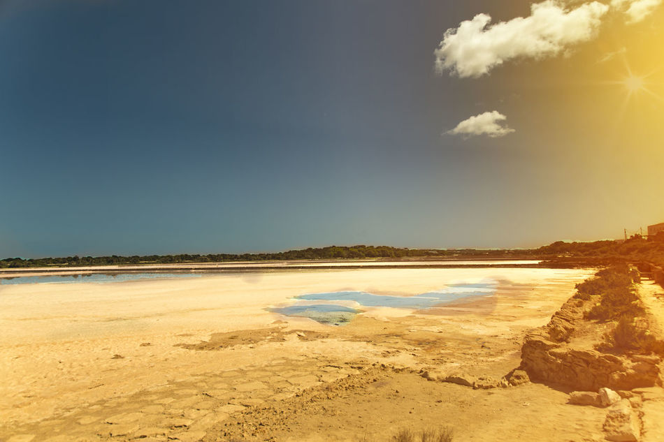 Salinas in Formentera Beauty In Nature Day Formentera Island Landscape Nature No People Outdoors PhotoFeliceSo Photooftheday Saline Salt Flats Sky SPAIN