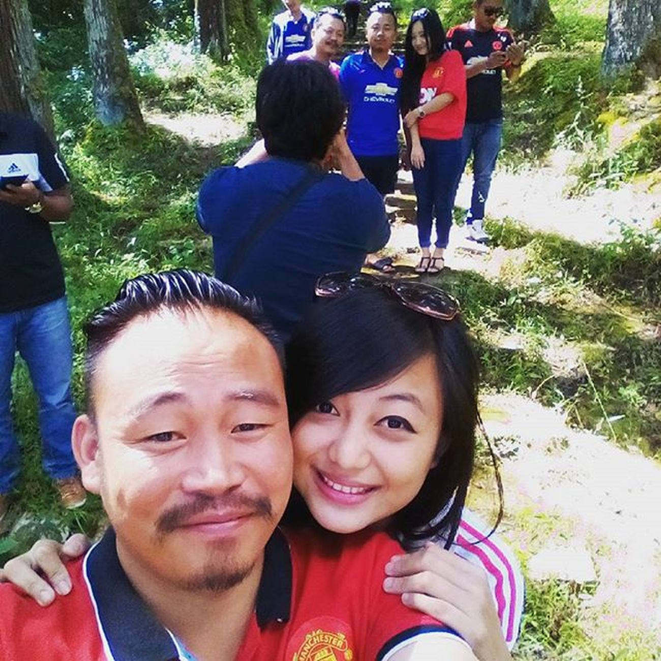 Life's good with with awesome friends around you Mufcn Manchesterunitedfamily Trecking Longkhum