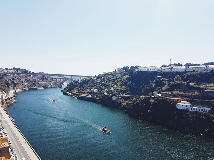 Aerial View High Angle View Nautical Vessel Day Beach Sea Outdoors Water No People Sky Nature Landscape Clear Sky City Oporto porto