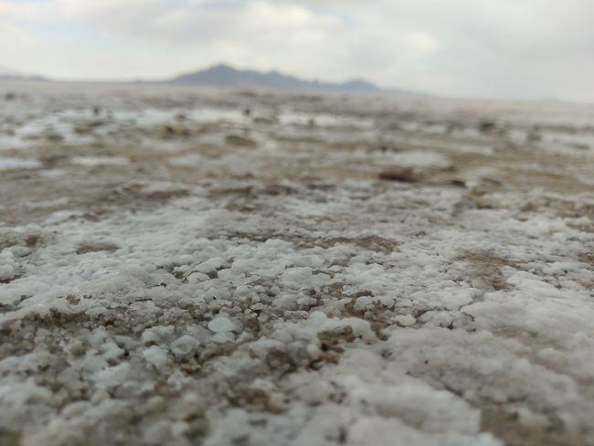 Salt Grains Crystals Utah Salt Flat Sky Cloud - Sky Nature Beauty In Nature Ice Age No People