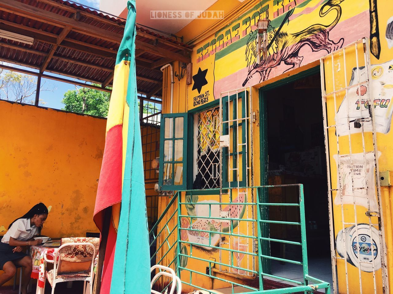 Jamaica Rastafari Vegan RASTA Lionessofjudah Italisvital Redgoldgreen Multi Colored Day Outdoors Real People Architecture
