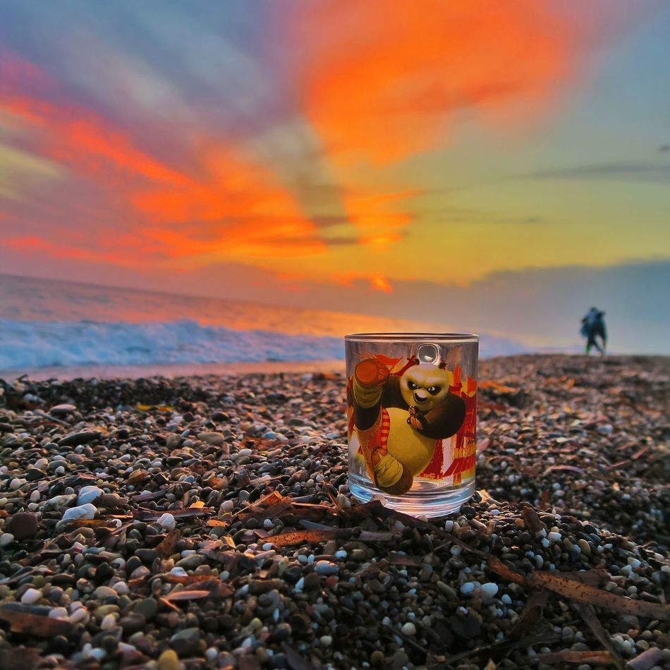 Beah Summer Sunset Seaside Pebbles Nature Panda Sky Antalya Travel