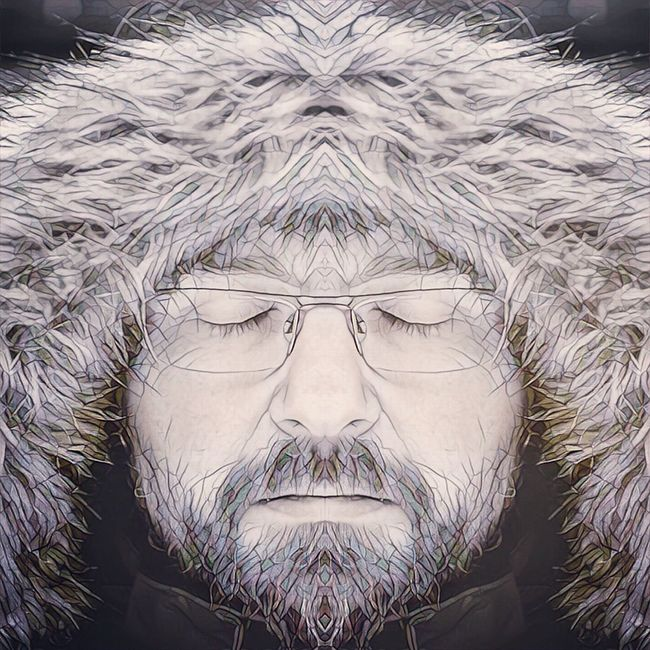 Symmetrical Me Headshot Close-up Day Outdoors Beauty Human Face Young Adult Human Hair Self Portrait Man Male Portrait Bearded Hairy  Winter Tired Sleepy Closed Eyes Meditation