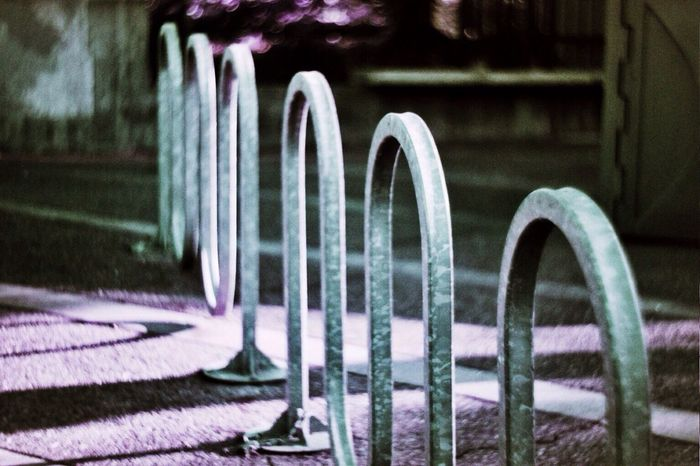 Bike Rack Lomochrome Purple Street Photography SF
