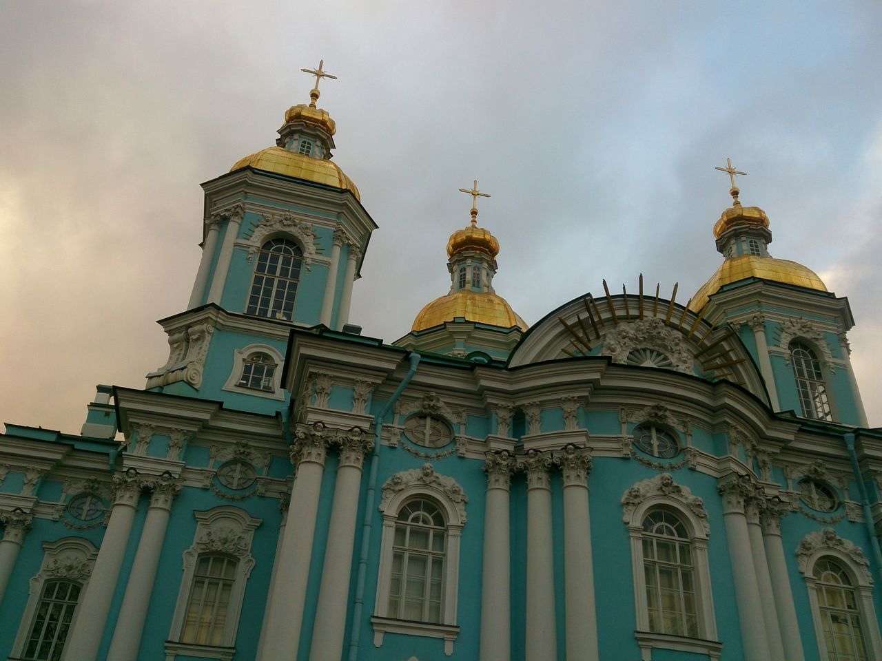 Nikolsky sobor, or the Saint Nicholas church at Saint Petersburg. Sony Xperia Zr Mobile Photography Mobilephotography No People Church Churches Architecture Architectural Detail Religious Architecture Historical Building Historical Place Historic Building Low Angle View