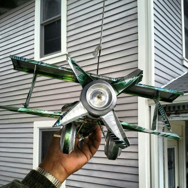 My Unc Made An Airplane Put Of Popcans