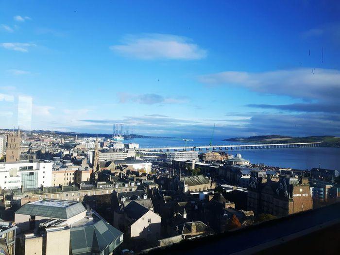 Dundee, Uk Dundee,Scotland Dundee Scotland Blue Sky River Tay