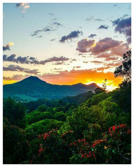 Sunset Beautiful Sunset Sun Clouds And Sky Sky Countryside Bush Hinterland Mullimbimby