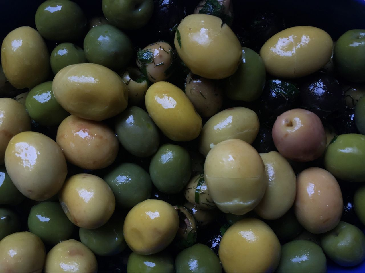 Green and black olives medley Food And Drink Food Healthy Eating Freshness No People Abundance Fruit Full Frame Vegetable Large Group Of Objects Backgrounds Indoors  Olive Close-up Day Olive Nutrition