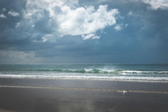 Beach Beauty In Nature Blue Cloud - Sky Cloudscape Cloudy Coastline Horizon Over Water Majestic Nature Outdoors Pembrokeshire Coast Scenics Sea Seascape Wales Water Wave