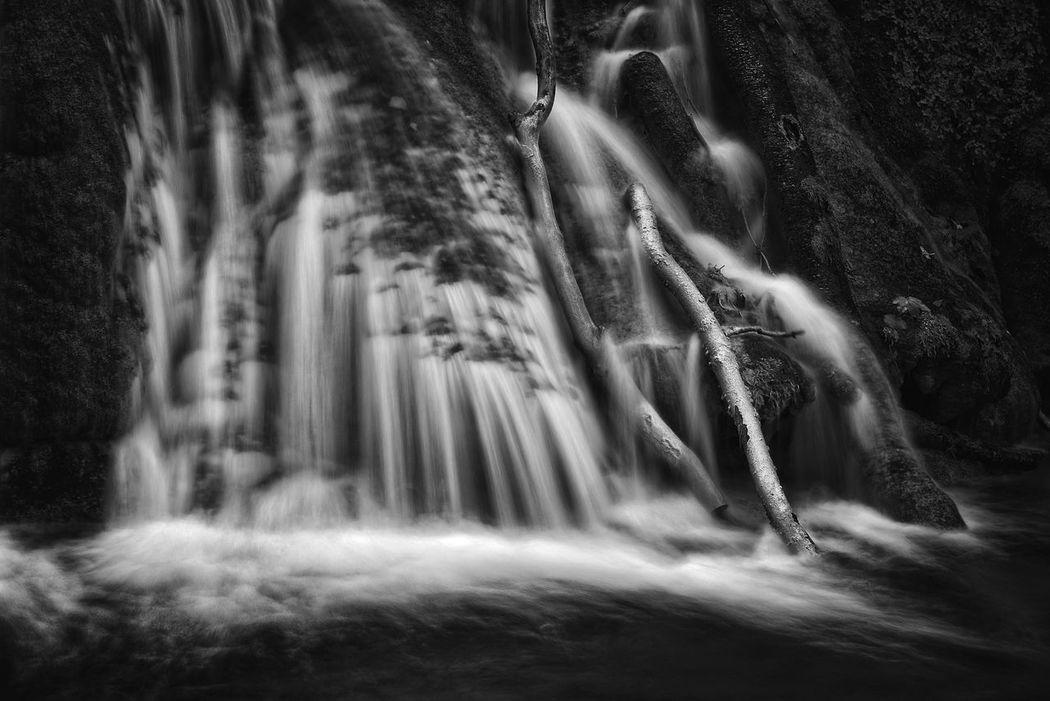 Dark Water Black And White Blackandwhite Branch Dark Fine Art Fine Art Photography Landscape Long Exposure Nature River Rock Stream Water Waterfall