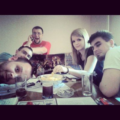 Yesterday. Friends and Dnd . Good times. :-)