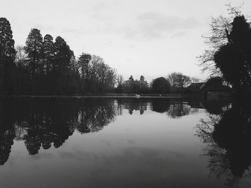 Monochrome mirror Reflection Water Outdoors Nature Sky Lake Symmetry Tranquility Reflection Lake Scenics No People Sunset Cloud - Sky Day Beauty In Nature Water Surface Water Reflections Lake View Lakeside National Trust National Trust 🇬🇧 Tredegar House Newport Tranquility Reflection Nature