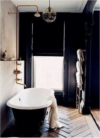 Bathroom Interior Barhroom Wood Floor Black