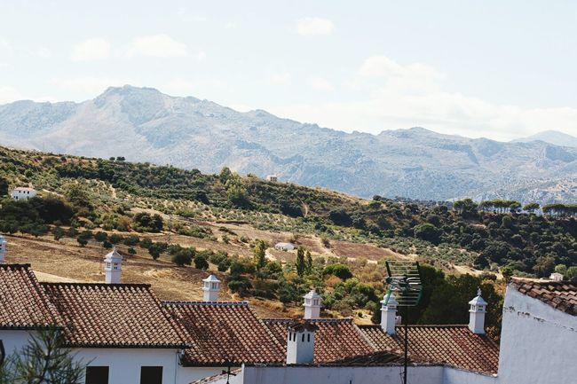 Nice View White Village Ronda Spain Mountains And Sky Andalucía Landscape #Nature #photography