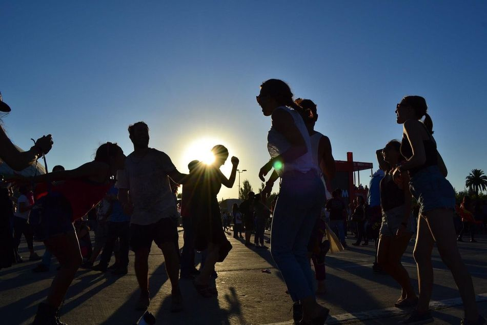 One of my favourite pics i've taken. This was at Lollapalooza Chile, 2012. A group of canadian friends celebrates the joy of being part of the festival. Chile Lollapalooza 2012 Concert Festival Music Rock Joy Happiness People Dancing Tribal