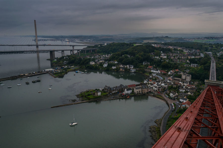 My view from the Forth Rail Bridge. City Cityscape Harbour Red Scotland Train Tracks Bridge Bridge - Man Made Structure Fife  North Queensferry Railway Sea Train