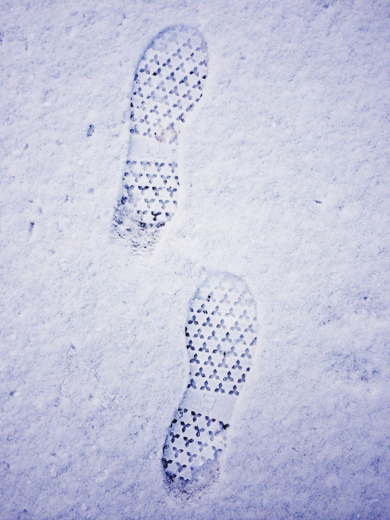 Footprints in the snow. New Jersey, USA. Photo by Tom Bland. Outdoors IPhone IPhoneography Winter Weather Winter Snow New Jersey USA Footprints Footprints In The Snow Tracks Looking Down Male Human Snowy Underfoot Grip Traction