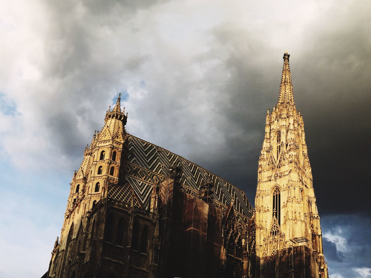 Cathedral Clouds Cloudy How's The Weather Today? Historical Building Architecture Old Buildings Sunny Gray Day. Panorama The City Light