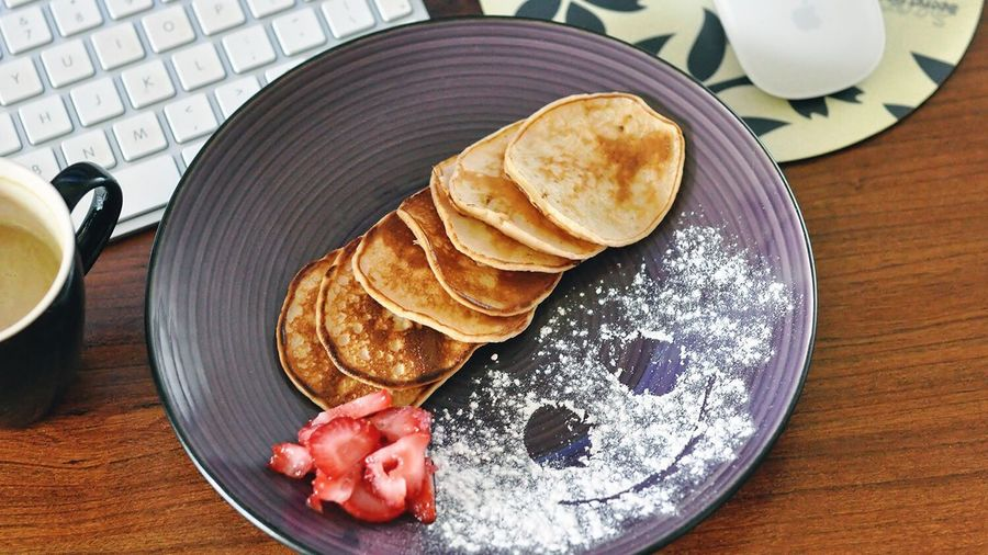 Morning Breakfast Food And Drink Ready-to-eat Healthy Eating Pancakes