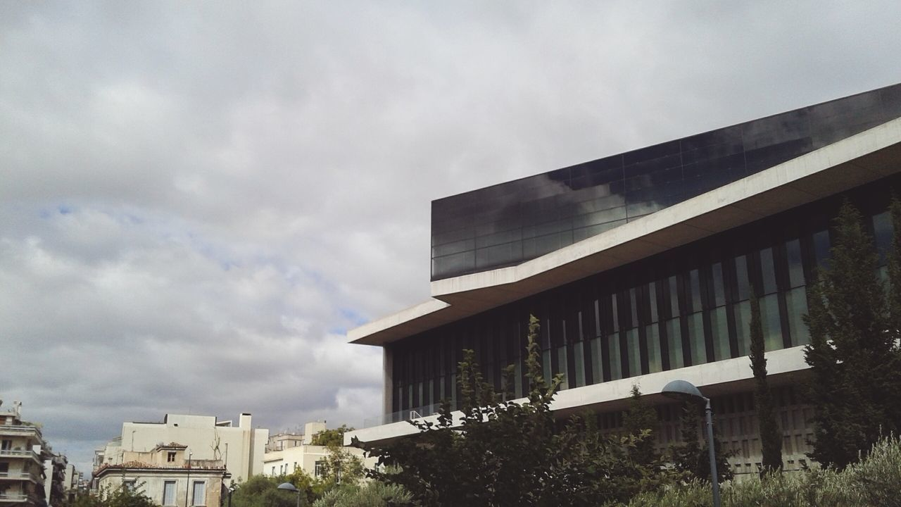 Acropolis Museum Built Structure Sky Building Exterior Cloud - Sky Architecture Outdoors Low Angle View No People Day Athens Athens, Greece Greece Architecture Window Parthenon Acropolis Greece Acropolis First Eyeem Photo Parthenon Acropolis, Athens AcropolisMuseum