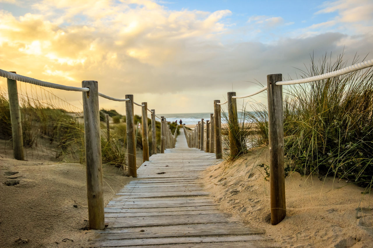 Beach Beachphotography Beauty In Nature Cloud - Sky Day Dune Dunes Grass Guincho Holiday Nature Outdoors Path Portugal Relax Relaxing Sand Sky Summer Sunset Tranquil Scene Wooden Path Wooden Pathway