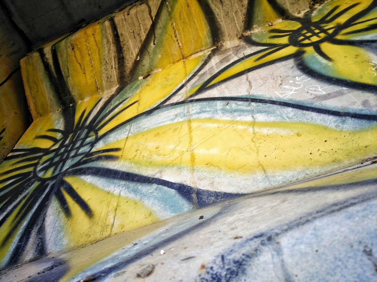 Yellow Close-up Full Frame Man Made Object Vibrant Color Messy Multi Colored No People Yellow Color Graffiti Graffiti Art Street Art/Graffiti AdamTurnerPhotography